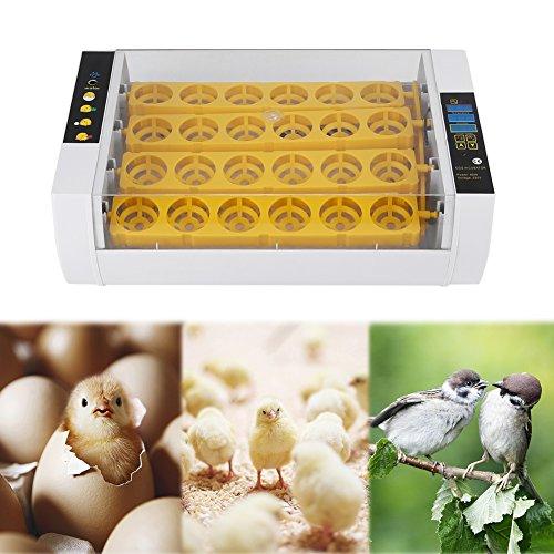 (Yosooo Incubator Hatcher-24 Digital Clear Egg Turning Incubator Hatcher Temperature Control Egg Incubator Hatching Machine (60W-24Egg))