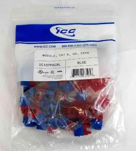 MODULE CAT 6 HD 25PK BLUE ICC Installation Equipment