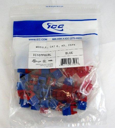 (ICC ICC-IC107F6CBL MODULE CAT 6 HD 25PK BLUE - NEW - Retail - ICC-IC107F6CBL)