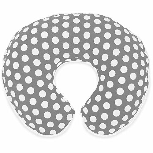 100% Cotton Slipcover for Nursing Pillow - Fresh Spotty Grey
