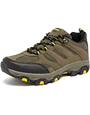 ziitop Mens Hiking Waterproof Boots Wearable Mountaineering Boots Mens Hiking Shoes Trekking High Backpacking Shoes Non-Slip Outdoor Camping Shoes for Mens
