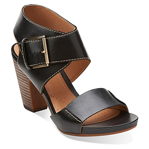 Clarks Women's Okena Mod Dress Sandal, Black, 8.5 M US
