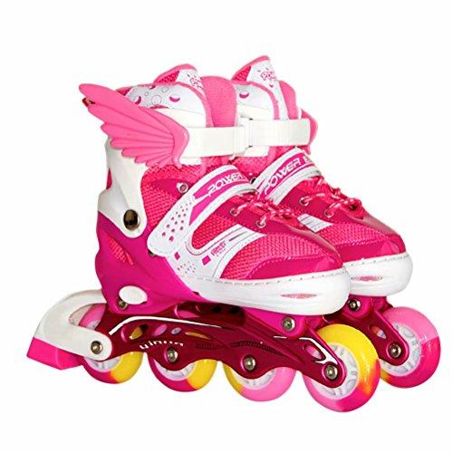 ペナルティ安定したアセンブリBurning Go インラインスケート セット ローラースケート 発光 全ウィールが光る メッシュ キッズ 子供用 大人 初心者向け ローラーシューズ スケート サイズ調整可能