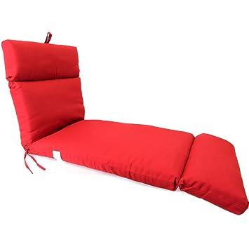 Amazon.com: Francés Edge Cojín de chaise Pompei Rojo ...