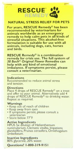 515WFskZuQL Bach Rescue Remedy Pet, 20 ml