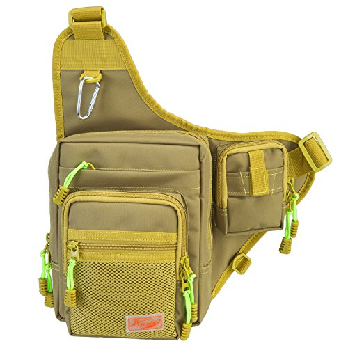Piscifun Fishing Tackle Bag Fishing Backpack Soft Sports Shoulder Bag - Great as Crossbody Messenger bag and Sling
