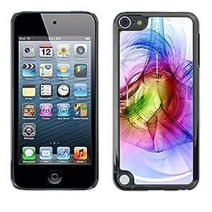 [Neutron-Star] Snap-on Series Teléfono Carcasa Funda Case Caso para Apple iPod Touch 5 [Azul Blanco Verde abstracto Túnel]