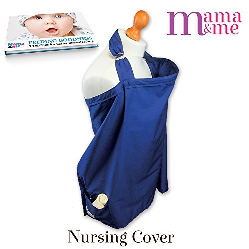 Luxury Nursing Cover, Nursing Poncho, Nursing Blanket, Nursing Shawl, Large Size (75cm x 95cm) for Complete Coverage and Comfort. Bundle for Breastfeeding Baby, 100% Cotton, Free Storage Bag, Luxurious Washcloth & Ebook. Three Pockets for Baby Teether's,