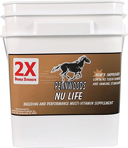 PENNWOODS EQUINE PRODUCTS 120781 Nu Life 2X Breeding & Vitamin Horse Supplement, 25 lb