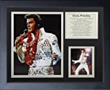 Legends Never Die Elvis Presley White Suit Framed Photo Collage, 11 by 14-Inch