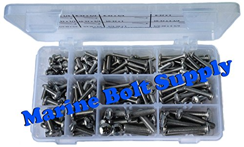 Type 316 Stainless Steel Phillips Pan Machine Screw Kit Marine Bolt Supply 6-111316 by Marine Bolt Supply (Image #1)