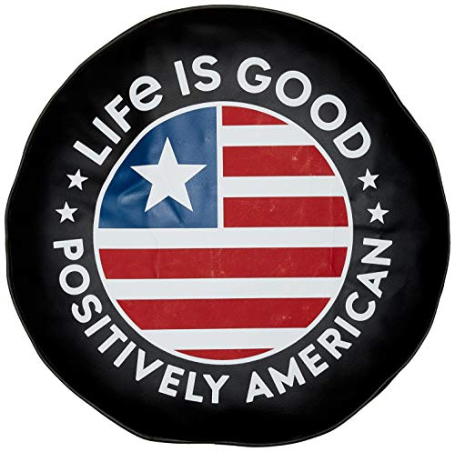 Life is Good Tire Cover Positively American, Night Black, 33