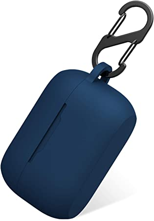 Amazon Com Aotao Silicone Case For Jabra Elite 75t Jabra Elite Active 75t Soft And Flexible Scratch Shock Resistant Cover With Carabiner For Jabra 75t Earbuds Elite 75t Navy Blue Home Audio
