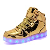 Coolloog Kids High Top 11 Colors LED Shoes USB Charging Flashing Sneakers Light up Shoes Birthday Party Halloween Christmas