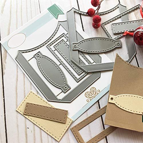 Cutting Dies, Curve Pocket Die Cuts for Card Making DIY Scrapbooking Paper Album Embossing Craft Decoration Metal Carbon Steel