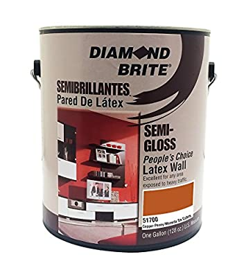 Diamond Brite Paint 1-Gallon Bright and Rich Latex Paint Scarlet Red