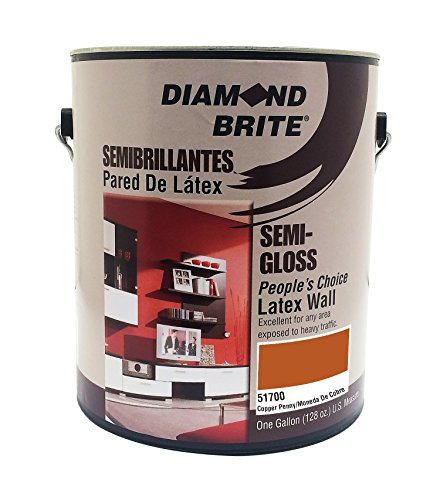 Diamond Brite Paint 51700 1-Gallon Bright and Rich Latex Paint Copper ()