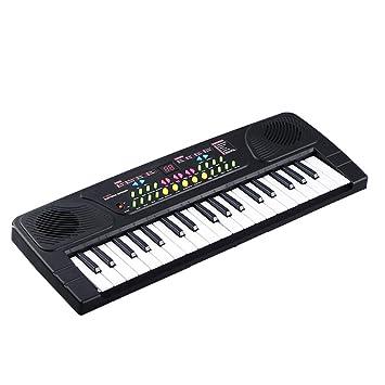 JUFENG 37 Teclas Multifuncional Mini Teclado Electrónico Piano Music Toy con Micrófono Electone Educativo Regalo para Niños Bebés,Black: Amazon.es: Hogar