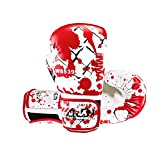 Wolon Womens/Mens Pro Style MMA Kick Boxing Training Gloves Skull Blood Sparring Gloves