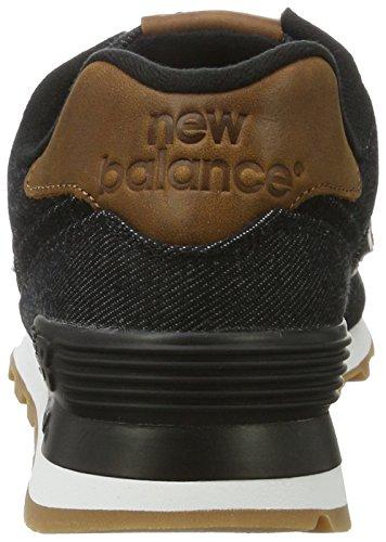 Canvas New 15 Ounce Schwarz Balance Sneakers Black Herren 574 qXrwap1XB