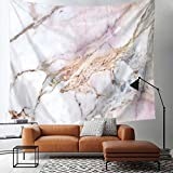 yoga mat marvel - TSDA Marble Tapestry Wall Hanging Gray and Pink Unique Marble Pattern Design Tapestry Decor for Living Room Bedroom Dorm