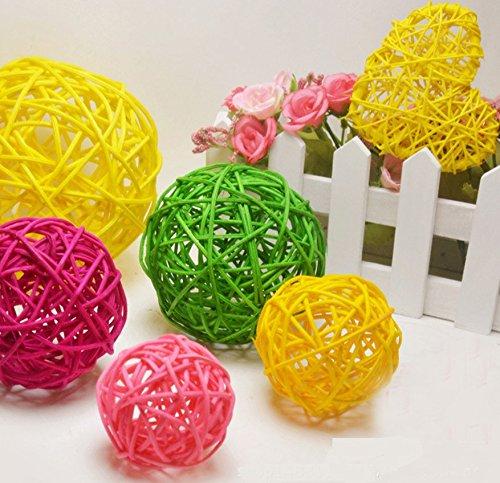 Astra Gourmet 18pcs Assorted Color Twig Grapevine Balls Decorative Wicker Rattan Balls for DIY Craft Decoration(Assorted Size)