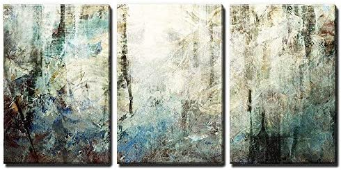 3 Panel Abstract Grunge Color Compositon x 3