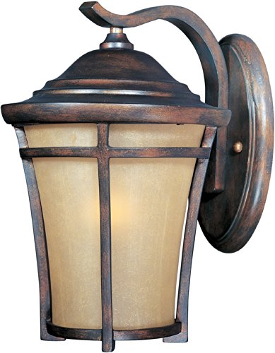 Maxim 40163GFCO Balboa VX 1-Light Outdoor Wall Lantern, Copper Oxide Finish, Golden Frost Glass, MB Incandescent Incandescent Bulb , 100W Max., Dry Safety Rating, Standard Dimmable, Glass Shade Material, 5750 Rated Lumens ()