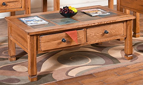 Cheap Sedona Coffee Table with Slate Top