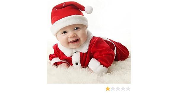 Highdas Navidad Disfraces Traje Niños bebés Niñas Terciopelo Traje ...