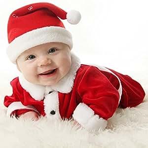 Juleya Conjuntos De Tres Piezas Navidad Fiesta Vestido Pantalones - Bebes-vestidos-de-papa-noel