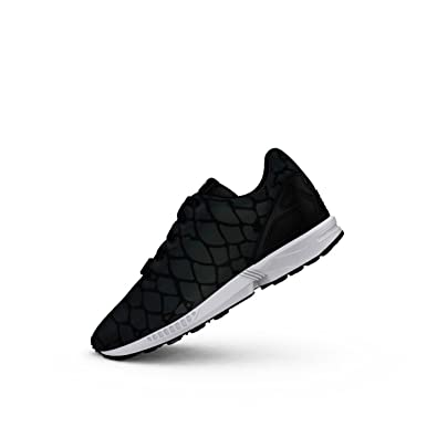 revendeur 09f9e b8acc Adidas Originals ZX Flux Xeonpeltis Youth Black Mesh Trainers