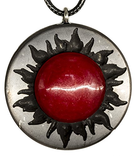 Red Jewelry Pendant Jade - Keled Rocks Pendant Necklace Shungite and Natural Red Jade for Men Women