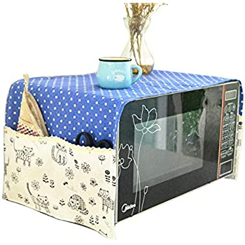 Microwave Oven Cover Dustproof Electric Oven Cover Dust Oil Proof Protection 38.7X13 Inch Blue