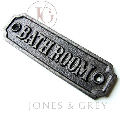 Estilo Vintage Cartel para puerta de hierro fundido de baño ...