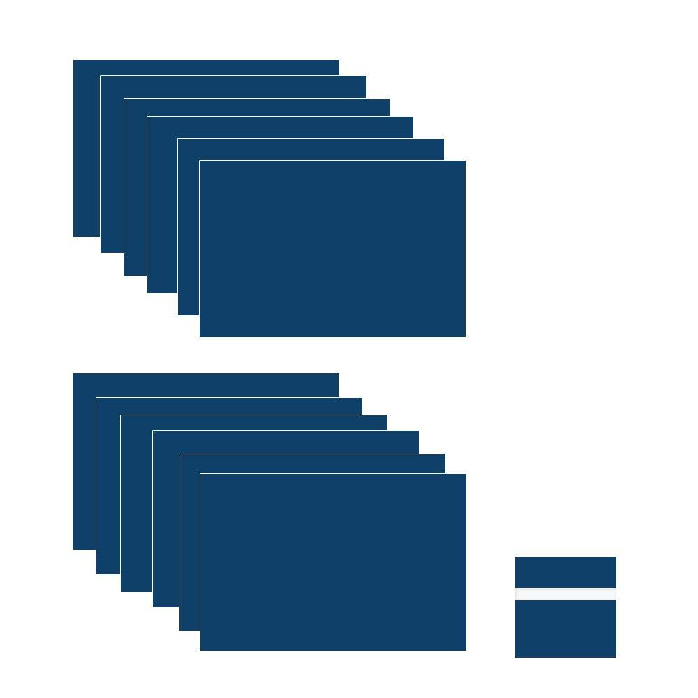 Marineblau//Wei/ß doppelfarbig 17,8 x 27,9 x 1,52,4 cm, 12 St/ück f/ür Innenschilder XLNTECH 100/% Lasergravur Abzeichen.