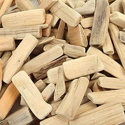 Koyal Wholesale Natural Driftwood Pieces Vase Filler Decor, 2-Pounds Bulk, Medium Large Size for Sculpture, Coastal Wall Art, Beach Mirror, Real Branch Shelf, Wreath, DIY Craft Project Supplies