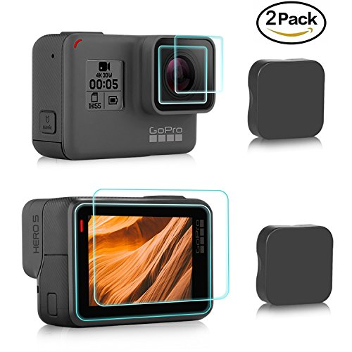 FilmHoo Screen Protector for GoPro Hero  / 6 / 5, Upgraded