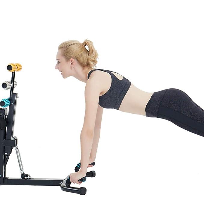 Bancos ajustables Equipo de ejercicios para la mujer Ejercitador de piernas Maestro, Entrenador para abdominales Ayuda para perder peso corporal total ...