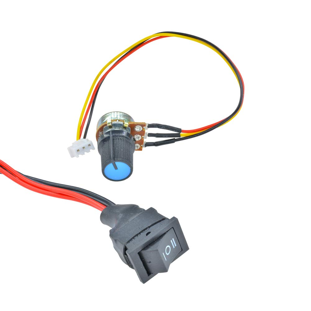 Aideepen 6 30v Pwm Dc Motor Speed Controller Reversible With Forward Connecting A Terminal Toggle Switch To 12volt Or Reverse 6v 12v 24v Variable Regulator Industrial