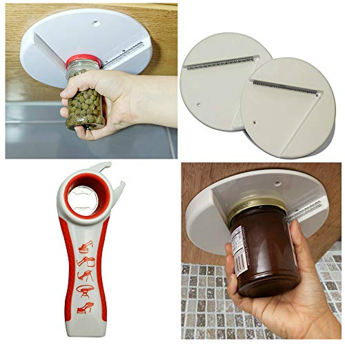 Jar Opener Bottle Top Opener Set 3 Pack Bundle Ideal for Seniors & People Suffering From Arthritis Multipurpose Kitchen Tool