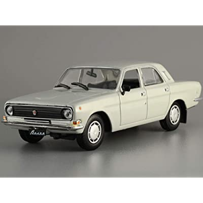 GAZ-24-10 Gray 1985 Year Soviet Sedan USSR 1/43 Scale Collectible Model Car: Toys & Games