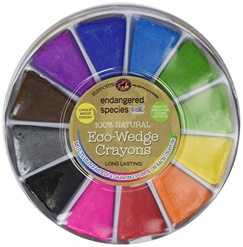 Endangered Species by Sud Smart 100% Natural Eco-Wedge (Multi Point Crayons)