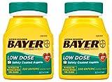 Bayer Aspirin Regimen, Low Dose (81 mg), Enteric Coated, 300 Count (2 Pack)