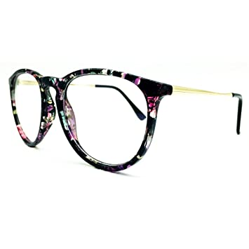 5d3cecb752 Image Unavailable. Image not available for. Color  Southern Seas Clear Lens  Frames Floral Print Spectacles ...