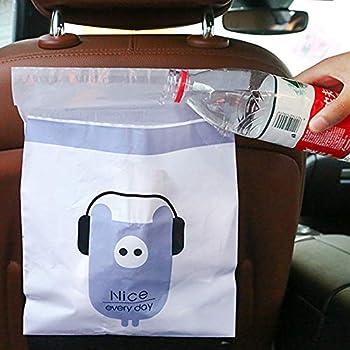 75pcs//Pack Car Trash BagCar Trash Bag Biodegradable Garbage Bag Rubbish Bin Bag Car Trash Bin Gag Disposable Container Bag for Auto Car Truck Vehicle Office Babyroom Bathroom Study Room
