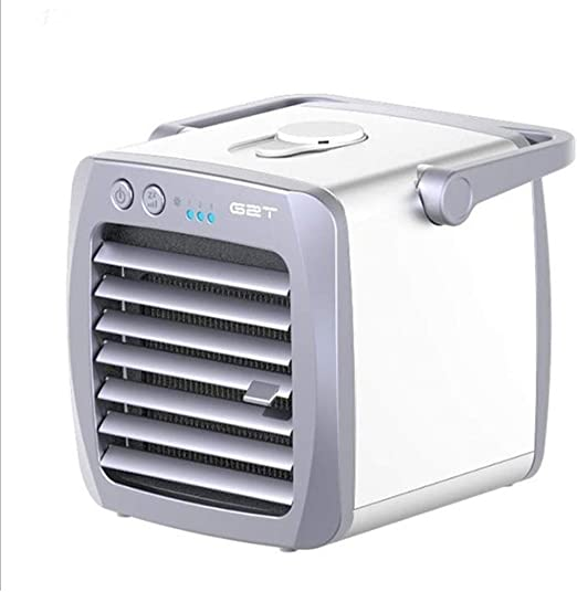 Aire acondicionado móvil ventilador de aire acondicionado pequeño humidificador purificador de aire aromaterapia USB mini enfriador de aire personal, oficina en casa mini aire acondicionado, aire acon: Amazon.es: Hogar