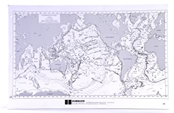 """American Educational Sea Floor Physiography Note Pad with 100 Sheets, 17"""" Length x 11"""" Height"""