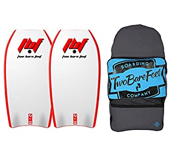 9a5116965c Two Bare Feet 42in Bodyboard Bundle - 2 x Future Bodyboards + Bag (Red +