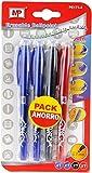 MP PE171-4 - Pack de 4 bolígrafos borrables con capucha
